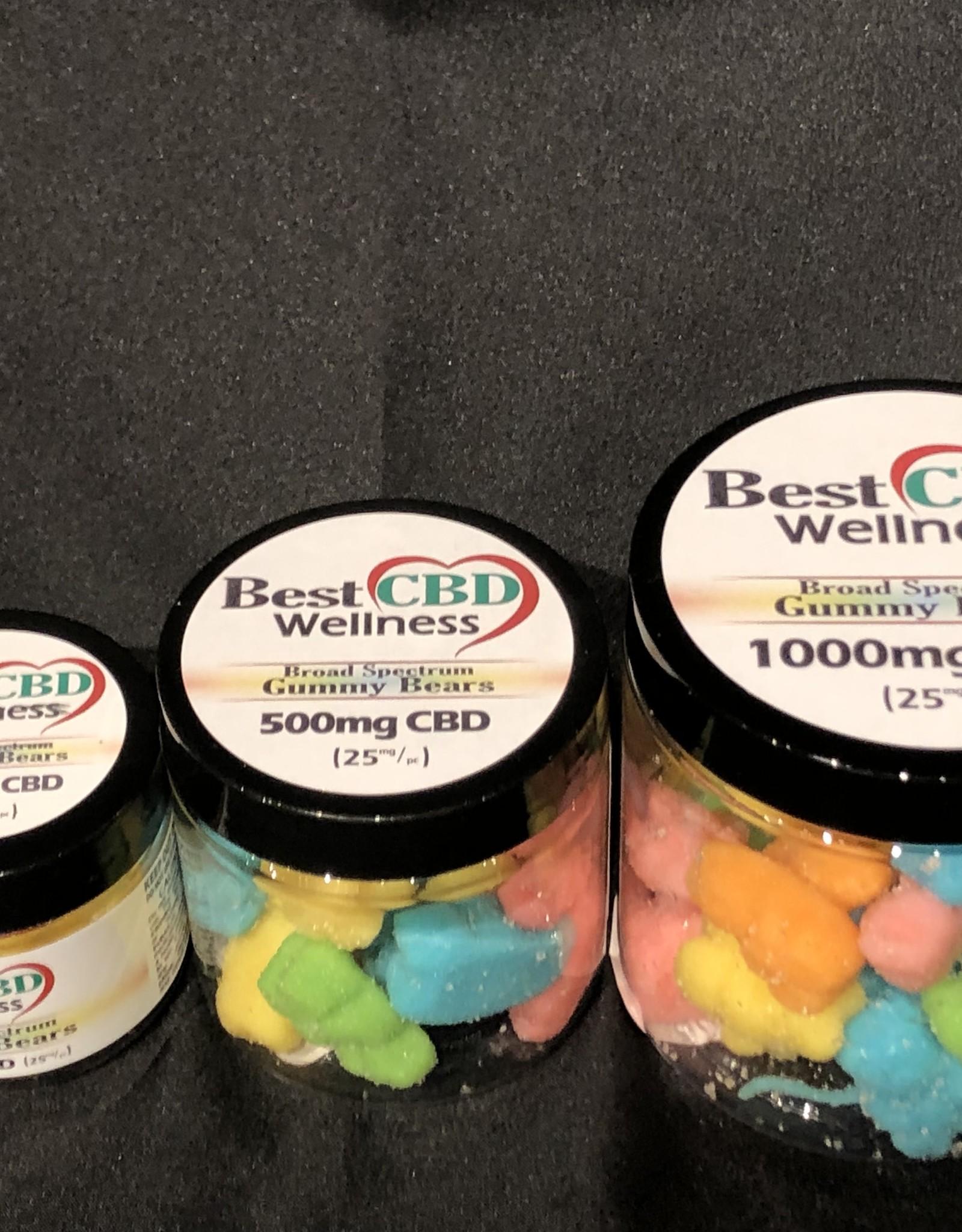 Best CBD Wellness Broad Spectrum CBD Gummies 500mg 25mg /20ct
