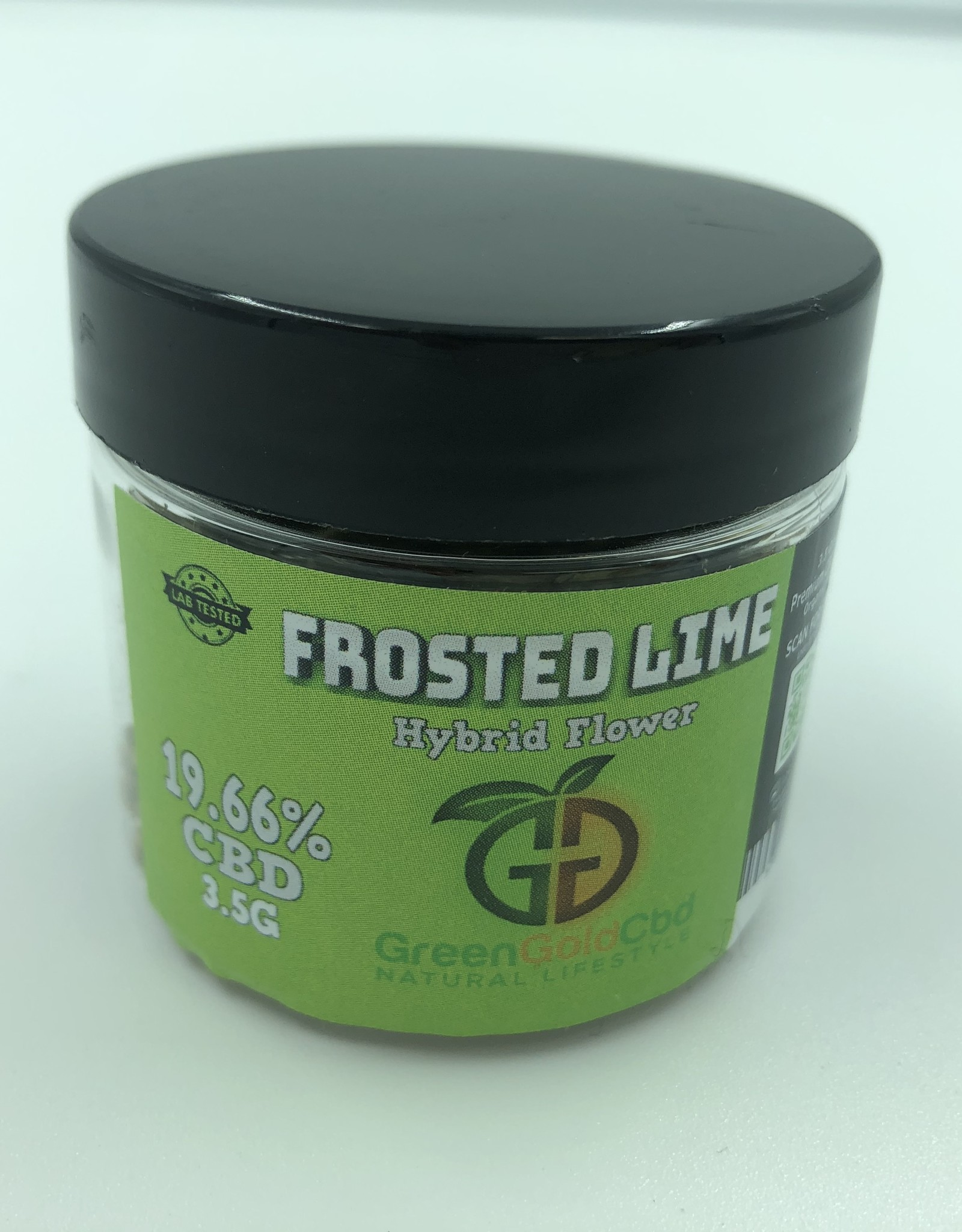 Green Gold CBD CBD Flower Frosted Lime, 19.66% CBD 3.5g