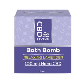 CBD Living Relaxing Lavender CBD Bath Bomb 100mg
