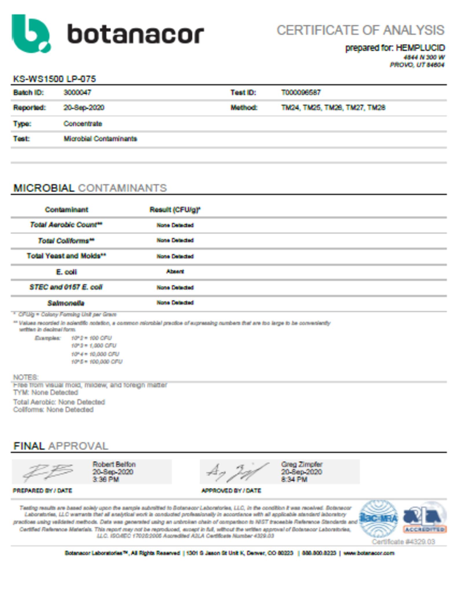 Hemplucid Kalki Water Soluble CBD Oil Tincture 1500mg