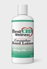 Best CBD Wellness CBD Cucumber Hand Lotion 100mg, 8oz, 240mL