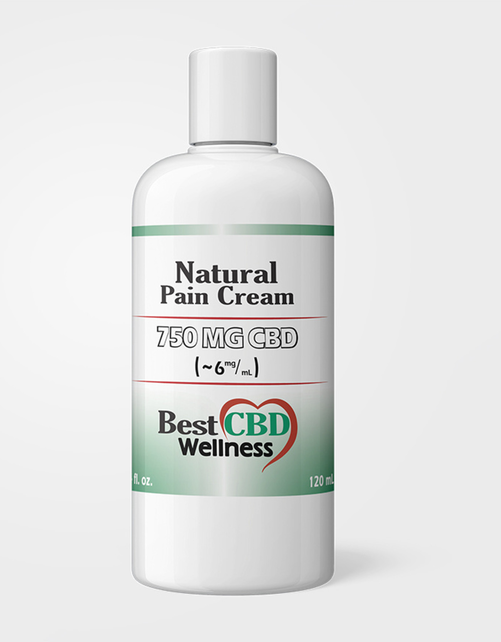 Best CBD Wellness Isolate CBD Natural Pain Cream 750mg 4oz