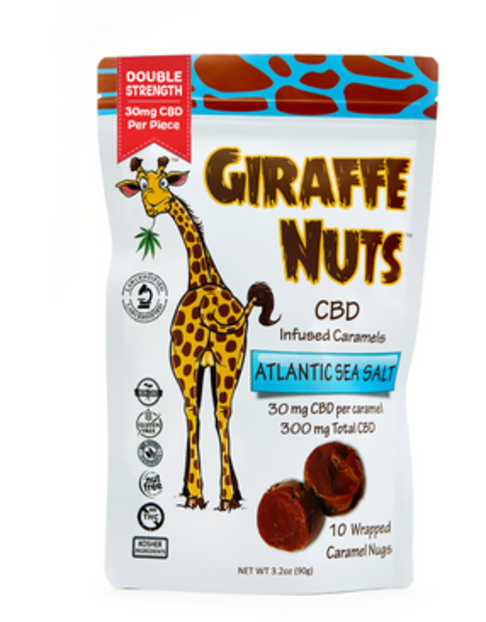 Lions Brand CBD CBD Giraffe Nuts Atlantic Sea Salt 300mg