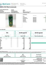 CBD FX CBD Chill Shot Lemonade Flavor 20mg 2oz 60ml