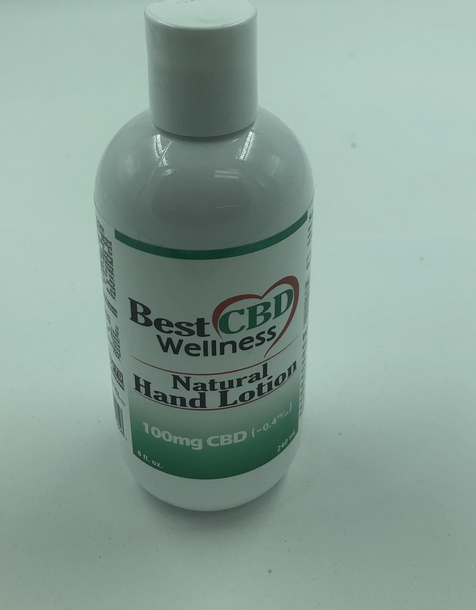 Best CBD Wellness CBD Natural Hand Lotion 100mg, 8oz, 240mL