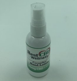 Best CBD Wellness CBD Cucumber Hand Lotion 25mg, 2oz, 60mL