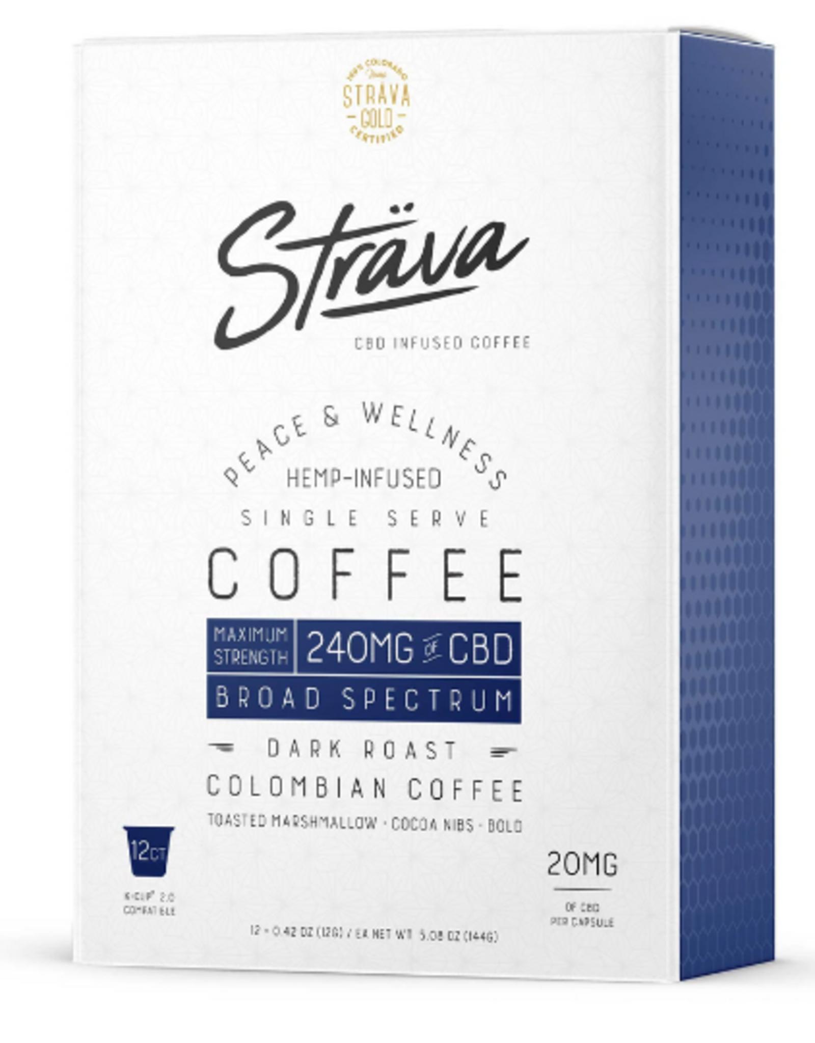 Strava CBD Coffee K Cups - Max Strength 12 Pack