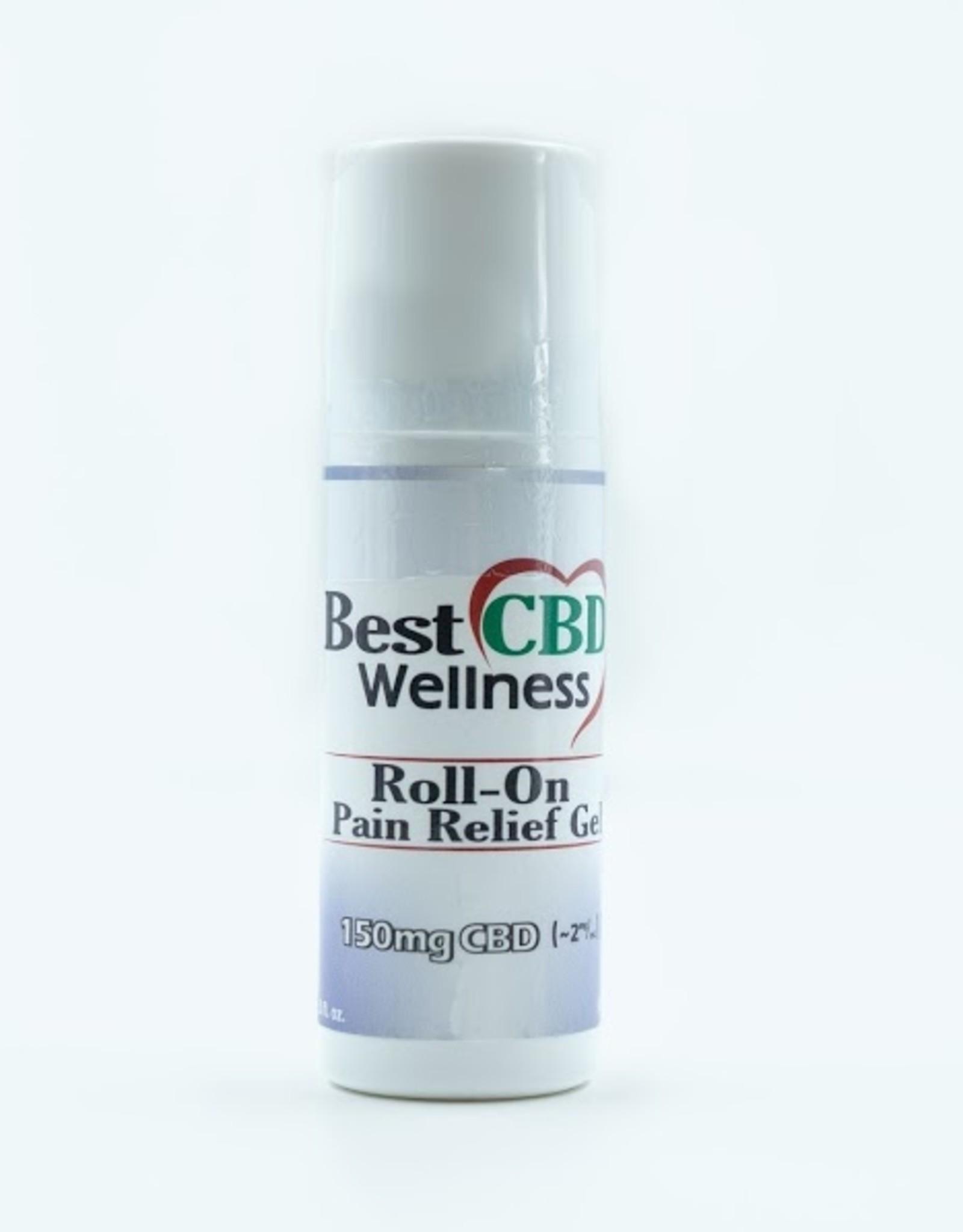 Best CBD Wellness Isolate CBD Roll-On Pain Relief Gel 150mg 3oz
