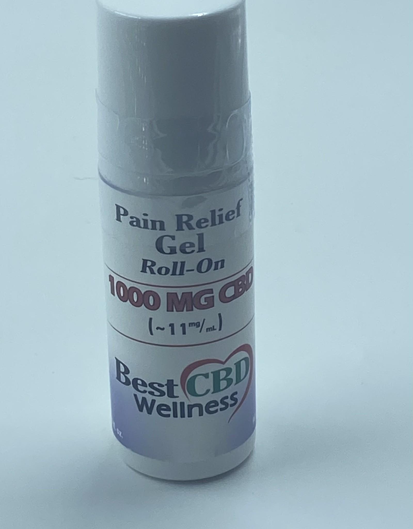 Best CBD Wellness Isolate CBD Roll-On Pain Relief Gel 1000mg 3oz