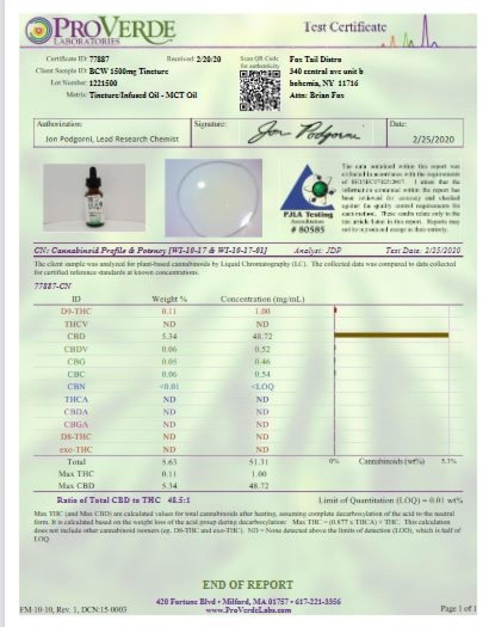 Best CBD Wellness Full Spectrum CBD OilTincture 1500mg Unflavored