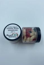 Best CBD Wellness Isolate CBD Blue Razz And Cherry Freedom  Rings 250mg 10 pc/25mg ea