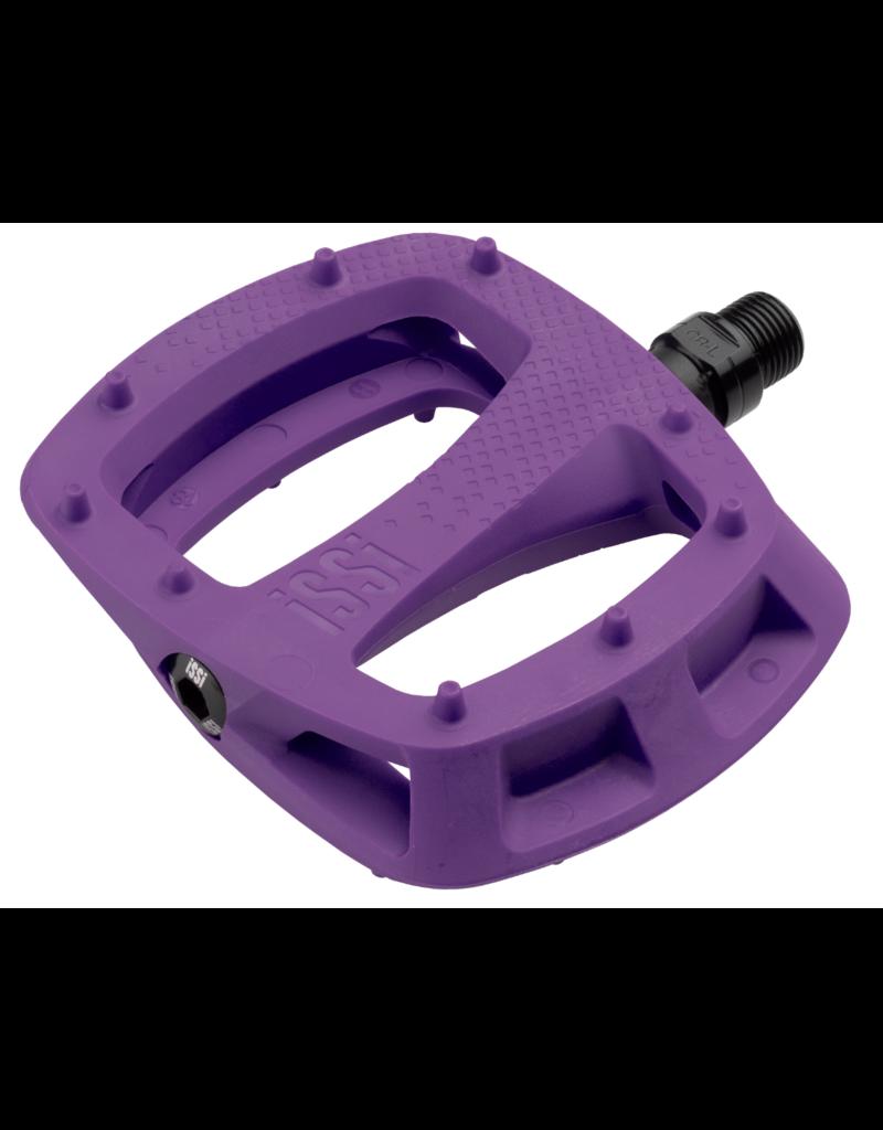 "iSSi Thump Pedals - Platform, Composite, 9/16"", Purple"