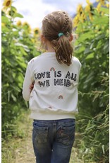 Spiritual Gangster Love Is All We Need, Rainbow Print Classic Crewneck Sweatshirt