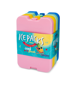 YumBox Ice Pack set of 4 Multicolor (pink, yellow, green, blue)