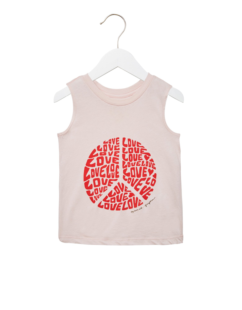 Spiritual Gangster Girls Love peace Muscle Tank