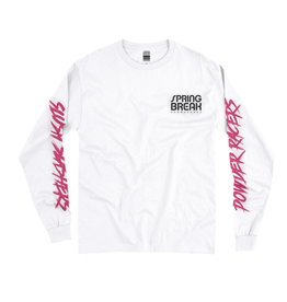 Spring Break, Powder Racers Long Sleeve Tshirt