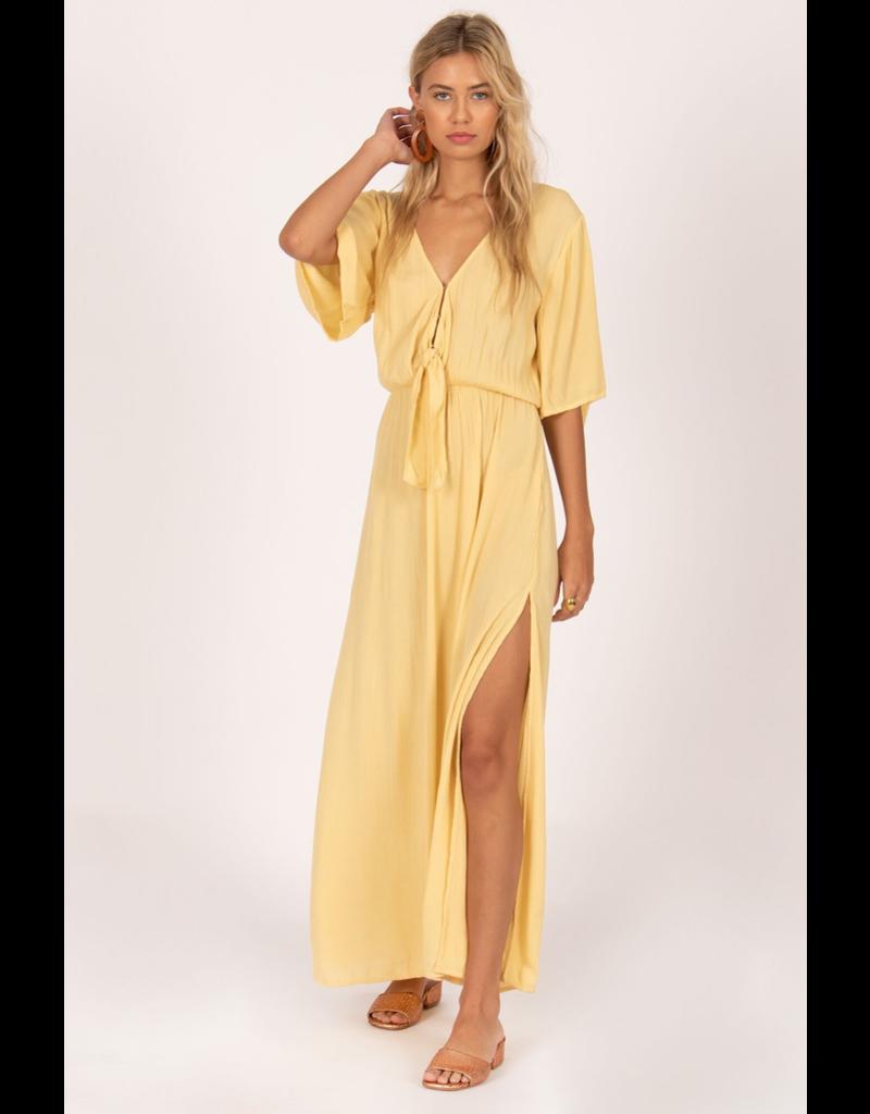 Lemongrass Woven Maxi Dress