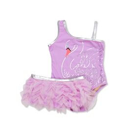 Shade Critters Shade Critters, One Shoulder Swan Princess Swimsuit
