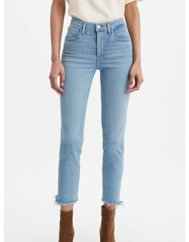 Levis 724 Hi Rise Straight Crop Denim