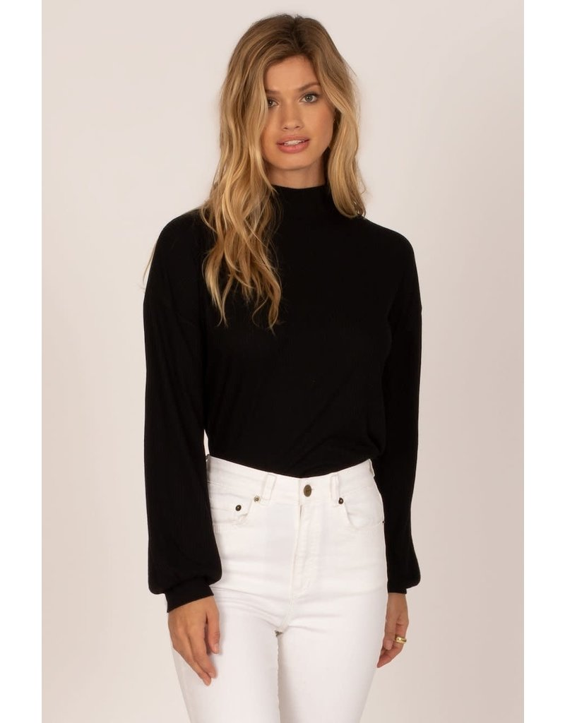 Amuse Society Happy Place Long Sleeve Knit Top