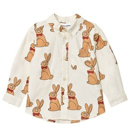 Mini Dressing MiniRodini, Rabbit Woven Dress