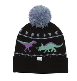 Coal The Dina Dinosaur Graphic Pom Beanie