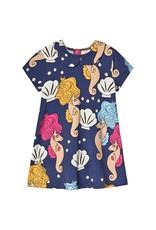 MiniRodini Mini Rodini, Seahorse Collar Dress