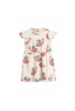 MiniRodini Mini Rodini, Whale aop Wing Dress