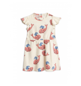 MiniRodini Mini Rodini, Whale aop Wing Dress