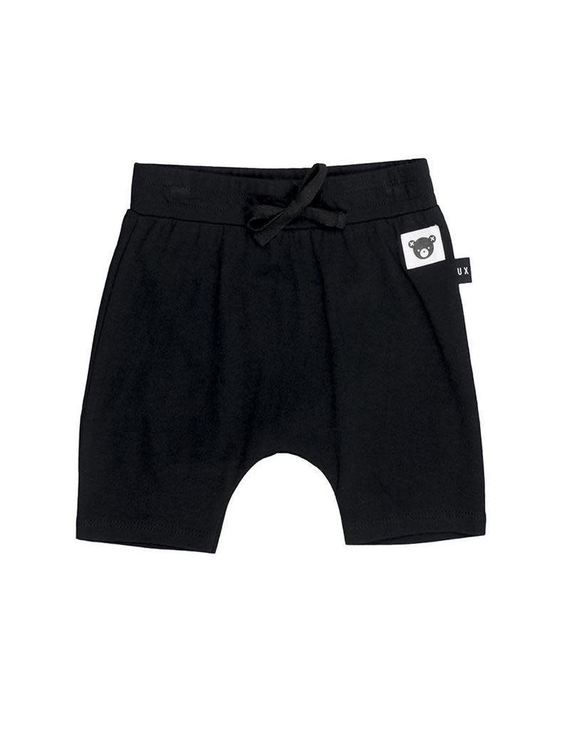 HuxBaby HuxBaby, Black Drop Crotch Shorts