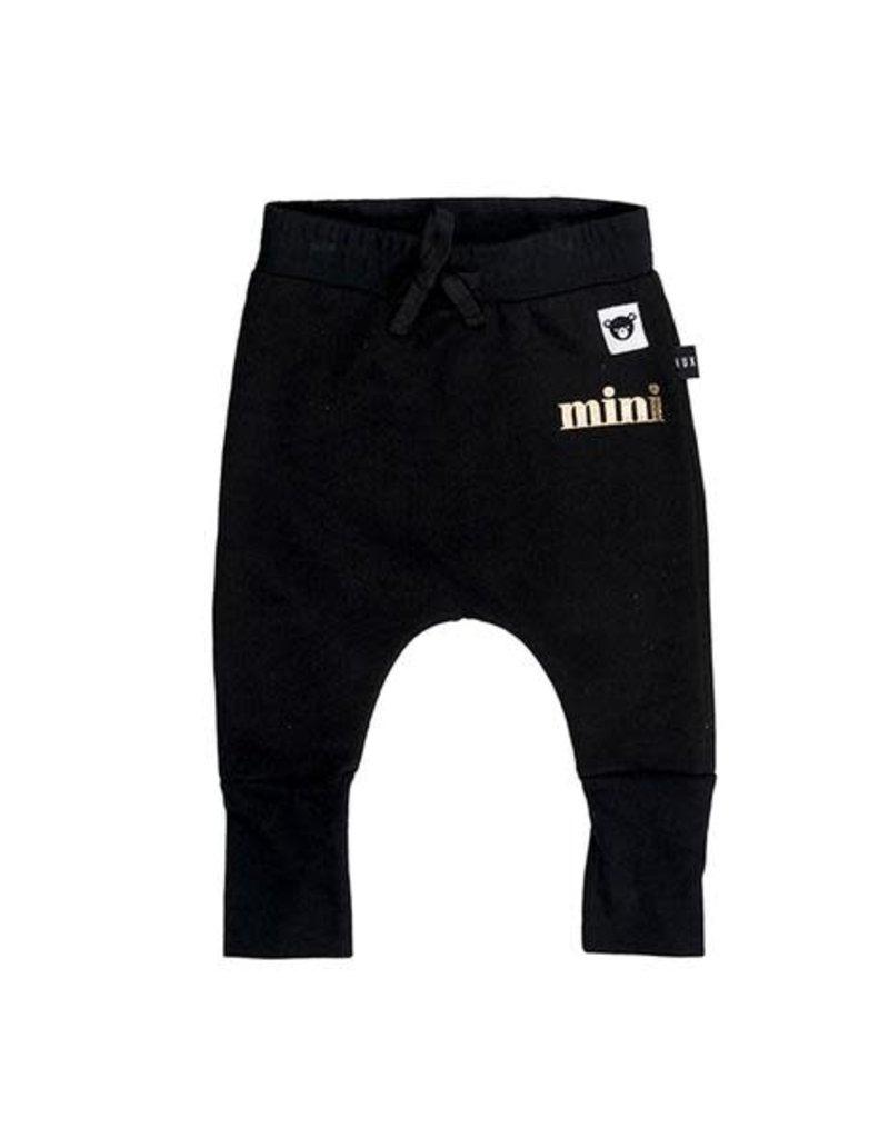 HuxBaby Huxbaby, Black High Cuff Pant