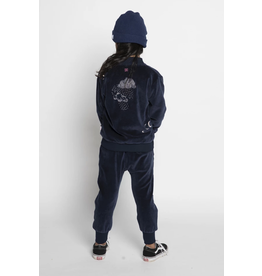 Munster Kids Clouds Velour Zip Jacket