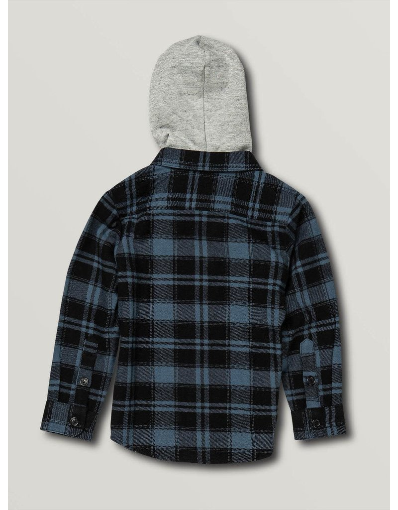 VOLCOM Little Boys Shade Stone Hooded Long Sleeve