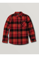 VOLCOM Big Boys Caden Plaid Long Sleeve