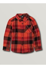 VOLCOM Little Boys Caden Plaid Long Sleeve