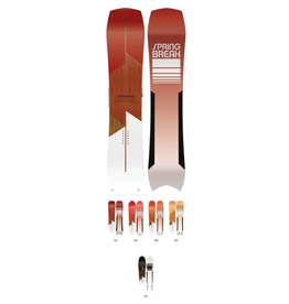CAPITA Spring Break Powder Snowboard Red 158