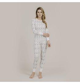 Petit Lem Womens Snowflake Pyjama Set