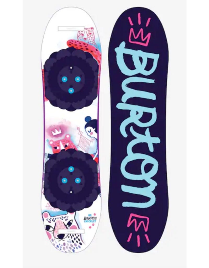 BURTON Chicklet Flat Top Snowboard Complete W/ Bindings