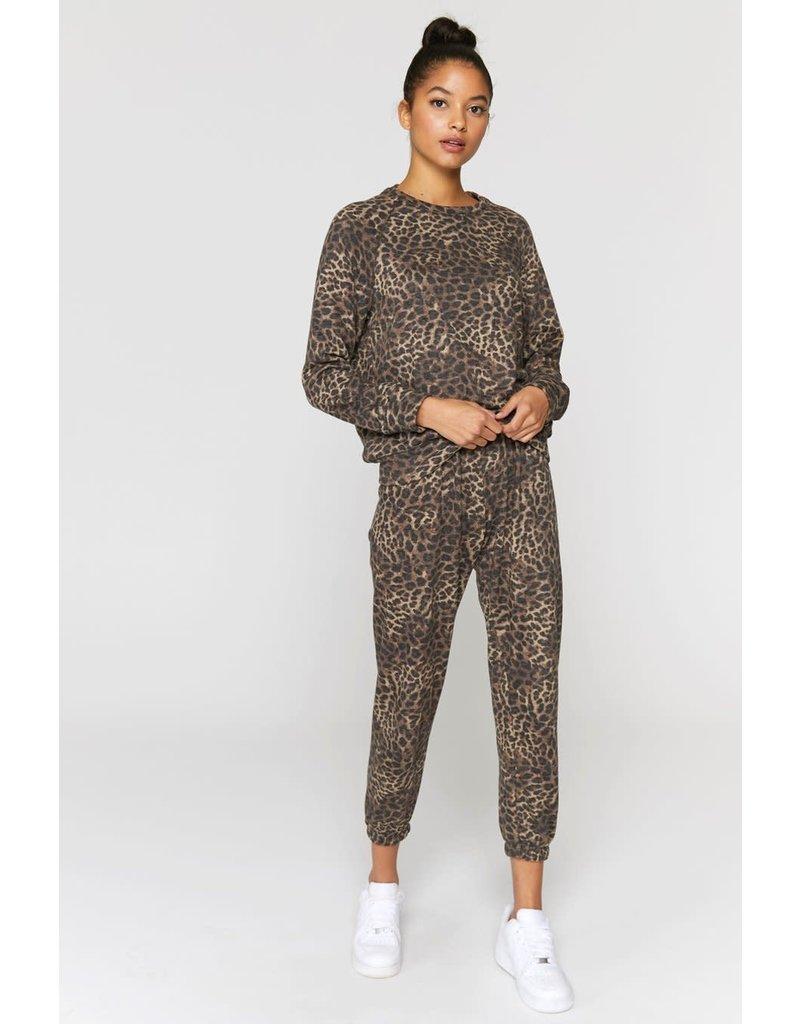 Spiritual Gangster Cheetah Print Old School Pullover