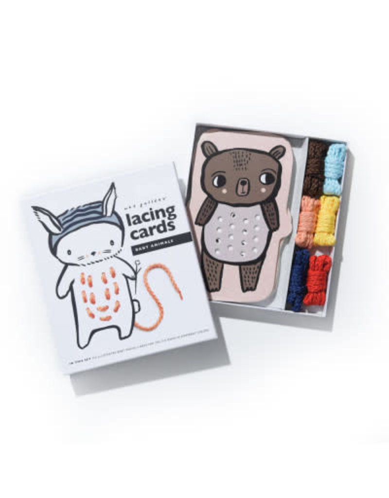 WeeGallery Baby Animal Lacing Cards