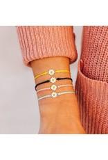 Pura Vida Bracelets Silver Daisy Charm Bracelet