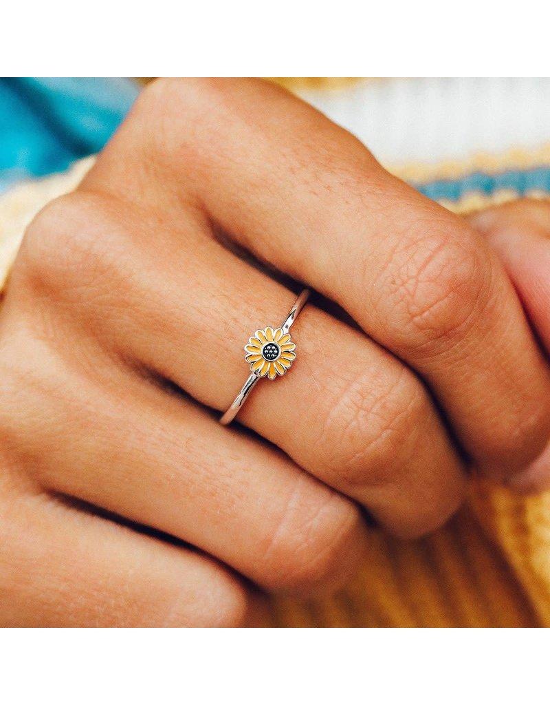 Pura Vida Bracelets Enamel Sunflower Ring
