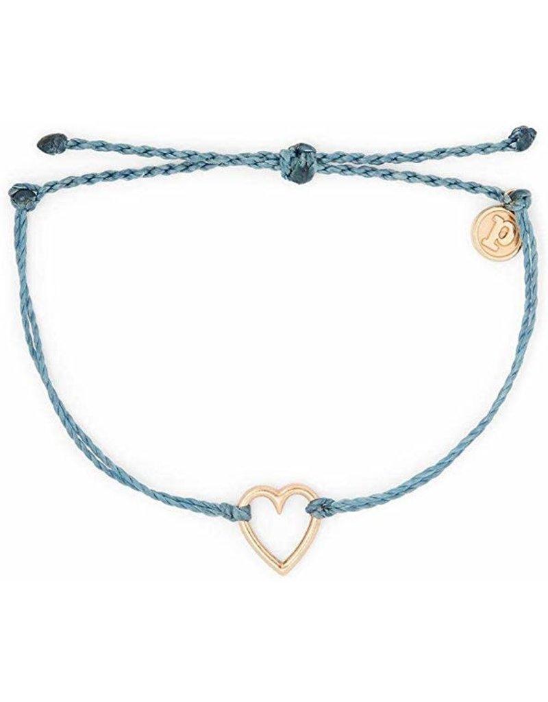 Pura Vida Bracelets Rose Gold Open Heart Charm Bracelet
