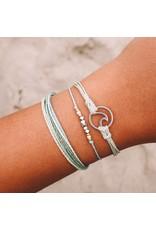 Pura Vida Bracelets Silver Wave Charm Bracelet