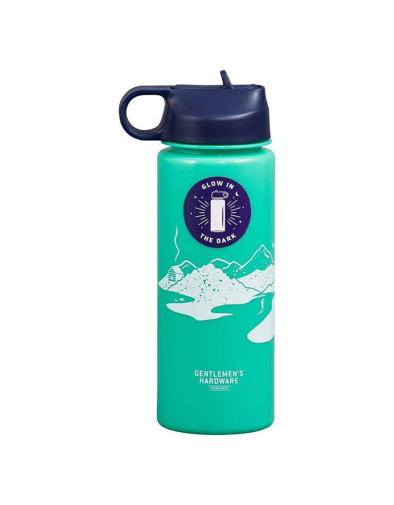 Wild + Wolf Gentleman's Hardware Glow in the Dark Water Bottle