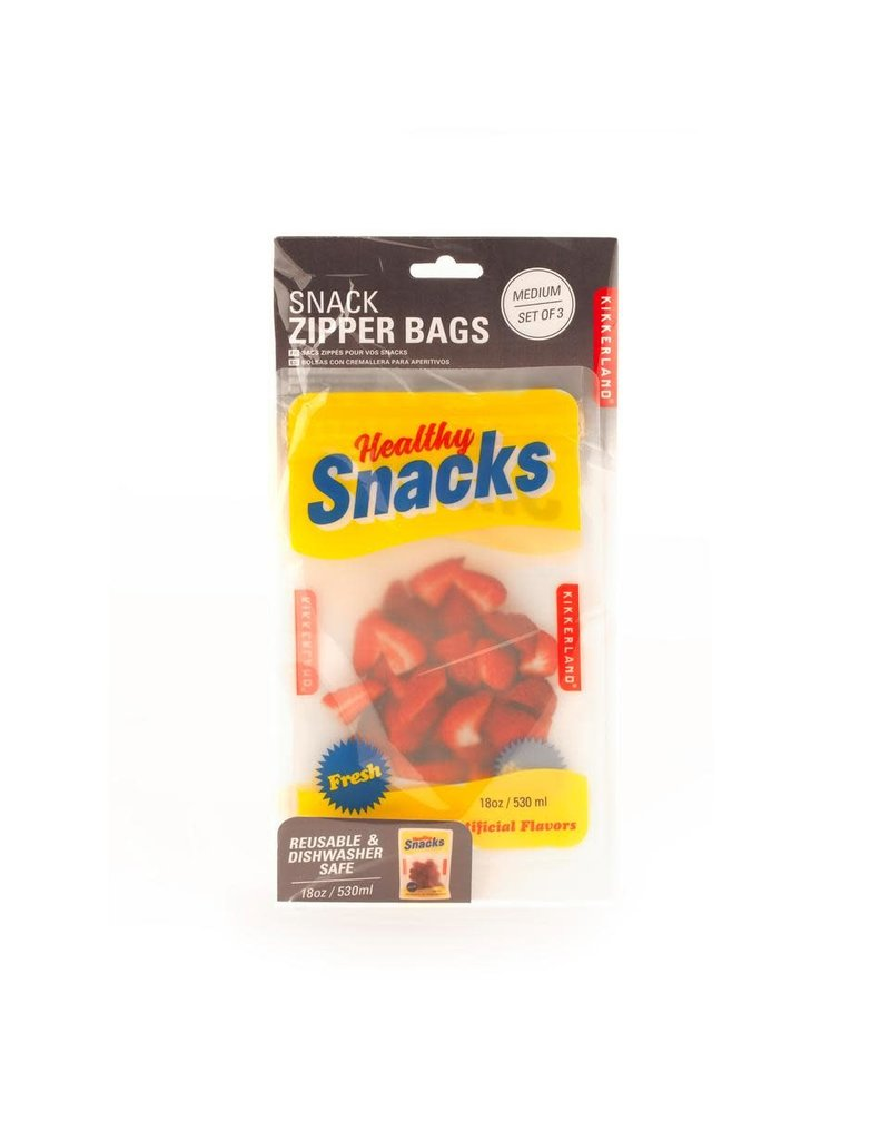 Kikkerland Designs Medium Snack Zipper Bags
