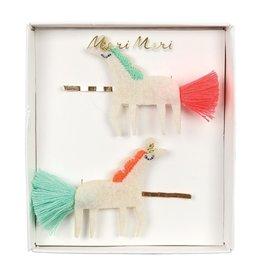 Meri Meri Unicorn with Tails Hair Slides