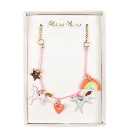 Meri Meri Unicorn Enamel Charm Necklace