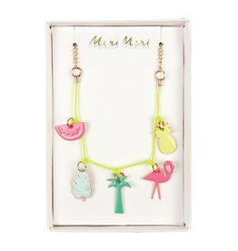 Meri Meri Tropical Enamel Charm Necklace