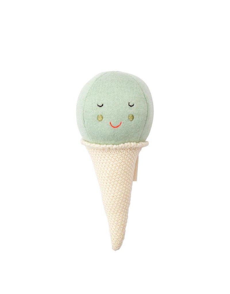 Meri Meri Mint Ice Cream Baby Rattle